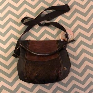 The Sam Crossbody Brown with flap NWT!
